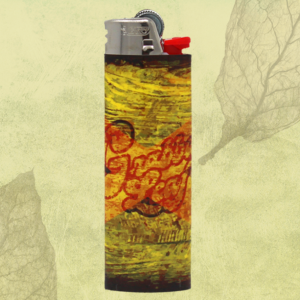 Jamaican Flag GrabbaLeaf Logo Lighter